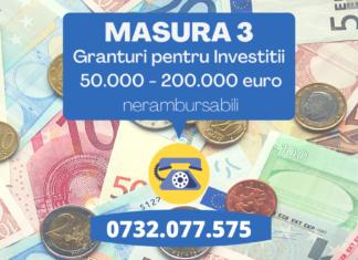 Masura 3 granturi pentru investitii