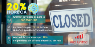Granturi pentru Horeca 20%
